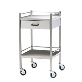 Stainless Steel Trolley, 1 Drawer