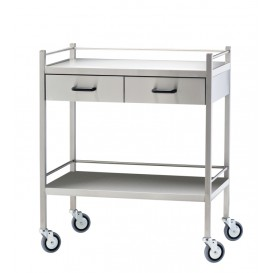 Stainless Steel Trolley, 2 Drawer