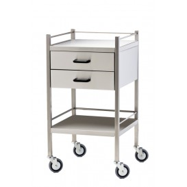 Stainless Steel Trolley 50x90 2 Drawer