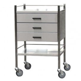 Stainless Steel Trolley, 3 Drawer